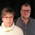 Adriane Meinhardt und Sebastian Hahn. Foto: Literaturbüro Oldenburg